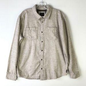 prAna Trey Flannel Button Down Shirt #597